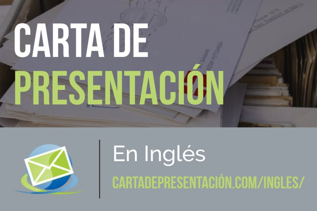 Carta de presentación en Ingles